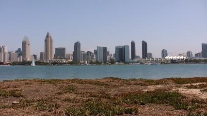 San Diego Skyline Pan Left
