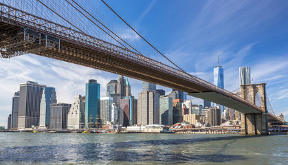 New York City Brooklyn Bridge Manhattan skyline