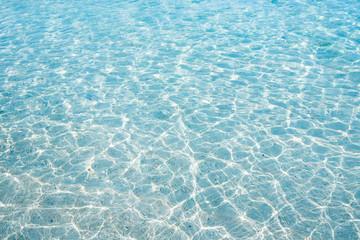 沖縄の海・透明な海の波模様
