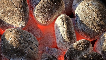 time for barbecue, glow, briquettes, grill, charcoal