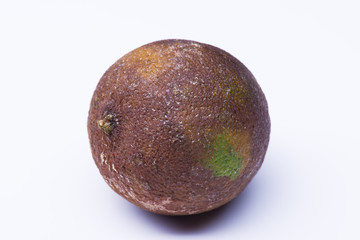 Isolated spoiled lime