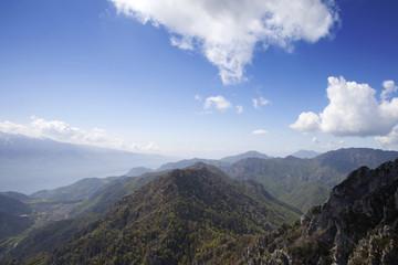 Alpen Panorama Blick Richtung Italien