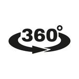 Fototapety The Angle 360 degrees icon. Rotation symbol. Flat
