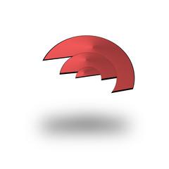 marchio aziendale in rosso