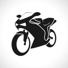 Motorcycle racing icon.