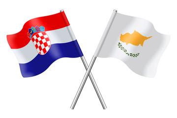 Flags: Croatia and Cyprus