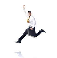 Hanging businessman