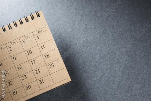 Calendar.On Blank Desk. - 80181658