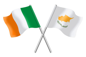 Flags: Ireland and Cyprus