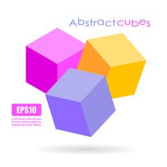Abstract cubes logo