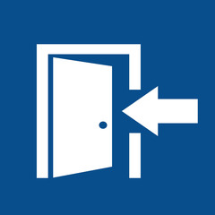 Entry door sign