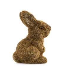 Toy bunny statuette isolated