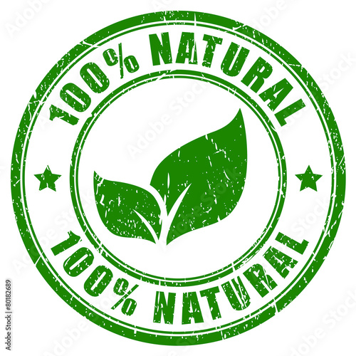 100 percent natural stamp - 80182689