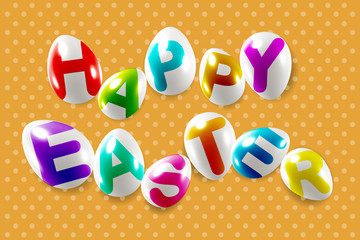 Happy easter decorative festive lettering