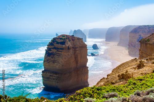 Poster Oceanië The Twelve Apostles by Great Ocean Road in Victoria, Australia
