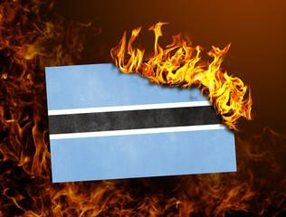 Flag burning - Botswana