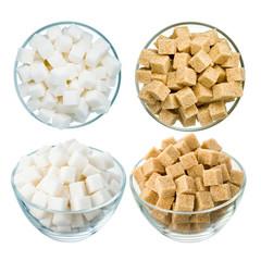 Sugar on white