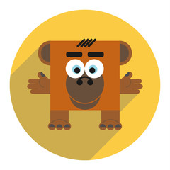 Icon of cute monkey.