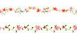 floral set seamless borders for your design. watercolor