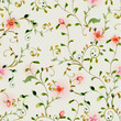 seamless texture with foliate ornament and flowers. watercolor p