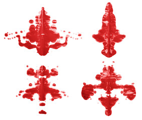 Symmetric paint blot