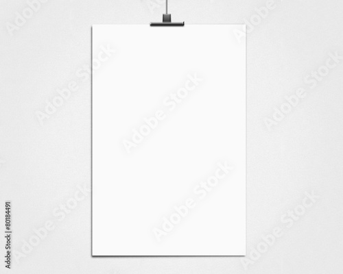white poster on a rope - 80184491