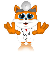 Marvin Cat Pet Veterinarien Cartoon Animal funny
