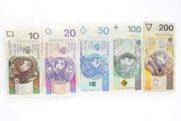 Polish banknotes all