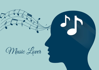 music from brain, music notes, music lover, music vector