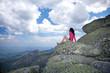 woman looking at landscape in Avila