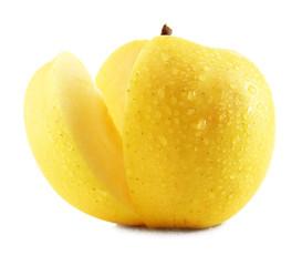 Juicy apple isolated on white