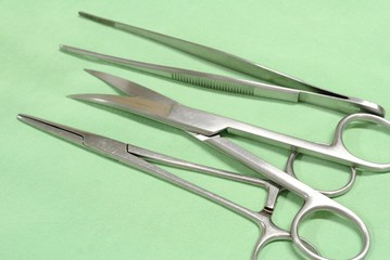 Medical equipment Scalpel Surgical tools kit...