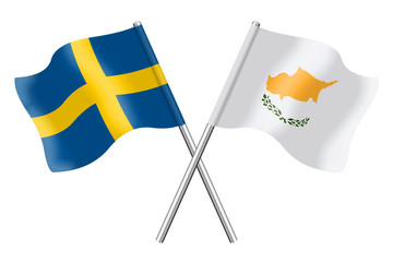 Flags: Sweden and Cyprus