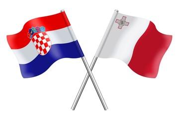 Flags: Croatia and Malta
