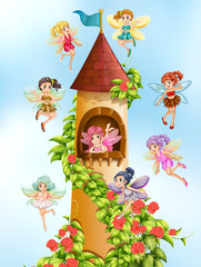 Fairies and tower