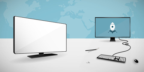 Computer and smart tv