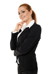 Closeup portrait of businesswoman