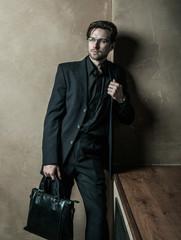 Young businessman. Fashion male.