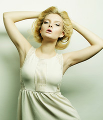 young fashion blond woman