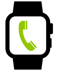 Phone in smartwatch icon