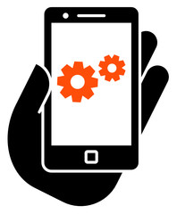 Smartphone settings icon
