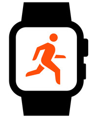 Workout in smartwatch icon