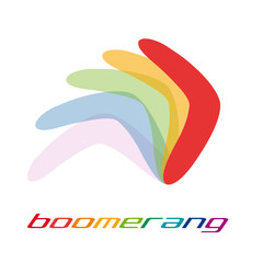 Vector sign boomerang