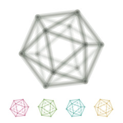 icosahedron transparent wireframe