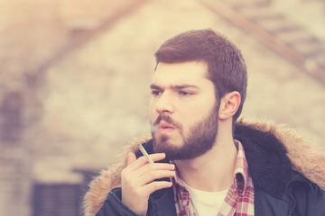 Urban smoker.