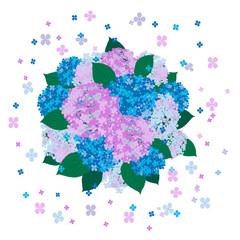 紫陽花+背景(拡散)+球形