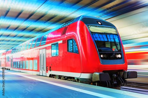Modern high speed train - 80191492
