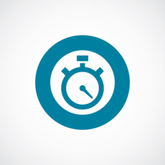 timer icon bold blue circle border