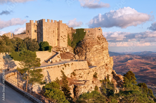 Deurstickers Kasteel Venere castle, Erice, Sicily
