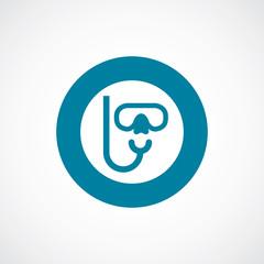 diving mask icon bold blue circle border.